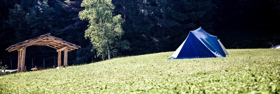 Blauwe tenten