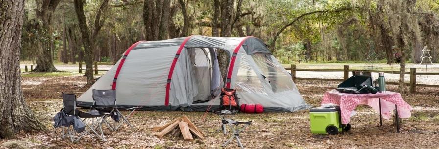 Grijze tenten