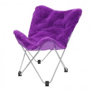 Oventure Fluffy Chair kampeerstoel - paars
