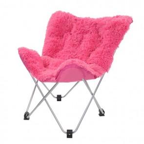 Oventure Fluffy Chair kampeerstoel - Roze