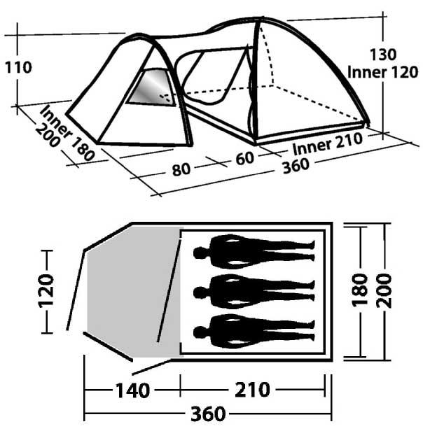 Indeling Easy Camp Eclipse 300