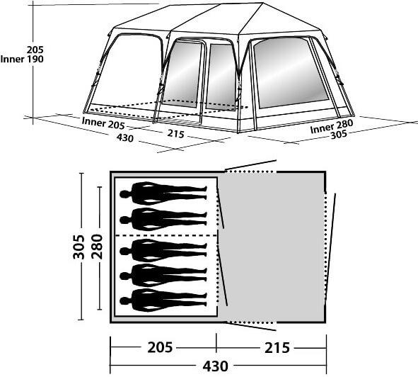 Indeling Easy Camp Oak Grove 500