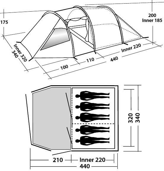 Indeling Easy Camp Tornado 500