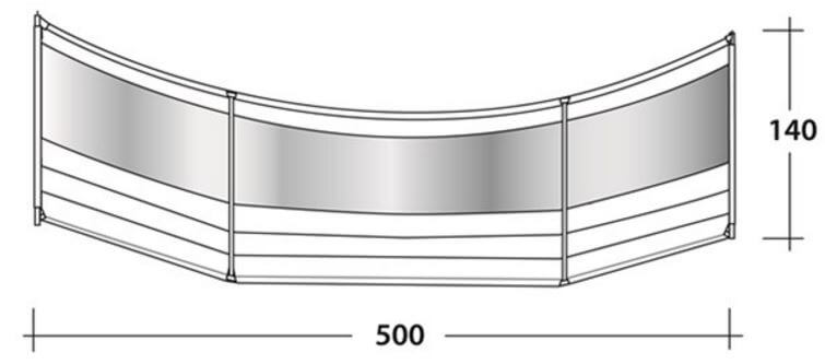 Indeling windscreen premium round